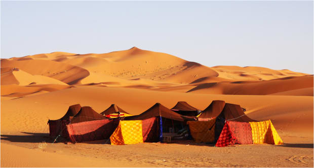 Morocco camping